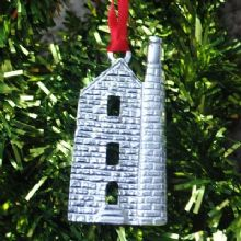 Cornish tin mine engine house Xmas decoration